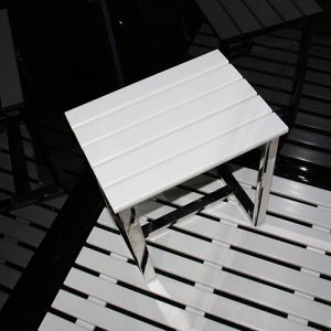Synthetic White Wood Stool