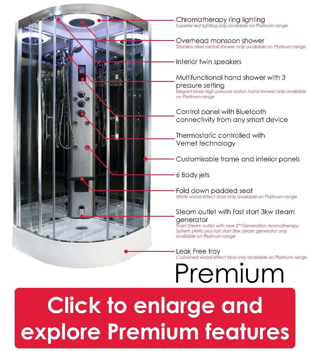Premium Shower features